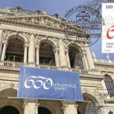 Sellos: AUSTRIA 2015 - 650 JAHRE UNIVERSITÄT WIEN CARTE MAXIMUM. Lote 262626160