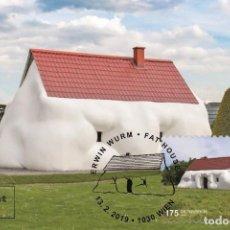 Sellos: AUSTRIA 2019 - ERWIN WURM – FAT HOUSE MAXIMUM CARD. Lote 262977835