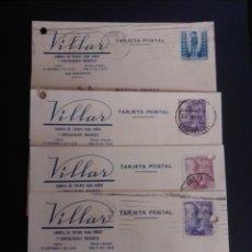Sellos: SAN SEBASTIÁN. LOTE DE 4 TARJETAS POSTALES COMERCIALES. FABRICA DE COCHES PARA NIÑOS VILLAR.. Lote 269991963