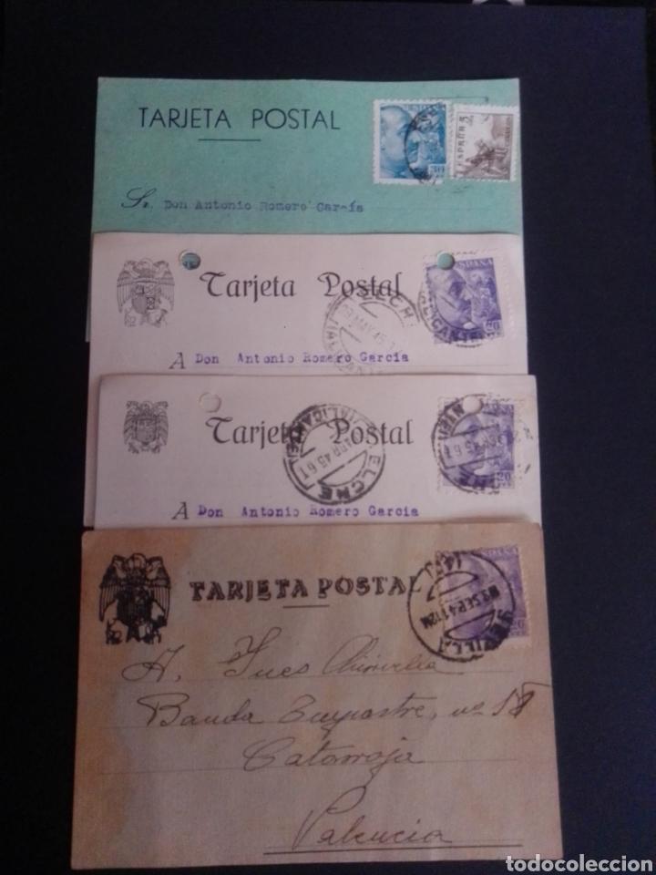 LOTE DE 21 TARJETAS POSTALES COMERCIALES. CIRCULADAS A TERUEL. (Sellos - España - Tarjetas)