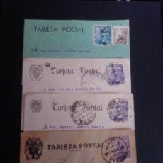 Sellos: LOTE DE 21 TARJETAS POSTALES COMERCIALES. CIRCULADAS A TERUEL.. Lote 269992273