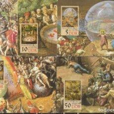 Sellos: ALEMANIA DDR.1989. MÁXIMAS SERIE COMPLETA.THOMAS MÜNTZER.. Lote 276777963
