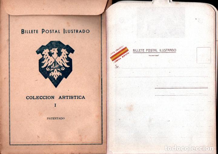 Sellos: BILLETE POSTAL ILUSTRADO - SOBRE CON LA SERIE COMPLETA DE 5 BILLETES POSTALES. - Foto 2 - 277699903