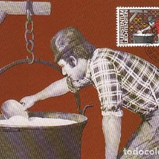 Sellos: LIECHTENSTEIN IVERT 746, TRABAJO: LECHERO, TARJETA MAXIMA DE 20-9-1982. Lote 278811728