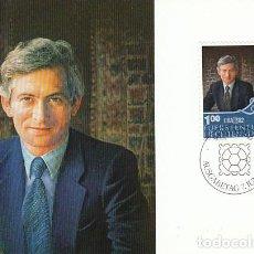 Sellos: LIECHTENSTEIN IVERT 738, PRINCIPE HEREDERO JEAN ADAM, TARJETA MAXIMA DE 7-6-1982. Lote 278812818