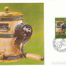 Sellos: LIECHTENSTEIN IVERT 690, UTENSILIO DE GRANJA DE LOS ALPES, TARJETA MAXIMA DE 8-9-1980. Lote 278969393