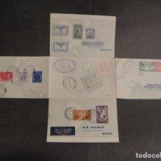 Sellos: HOJA CON SELLOS Y MATASELLOS CORREO AEREO, U.S.A. , BRASIL , FRANCIA , HONG KONG - AÑO 1937. Lote 282482228