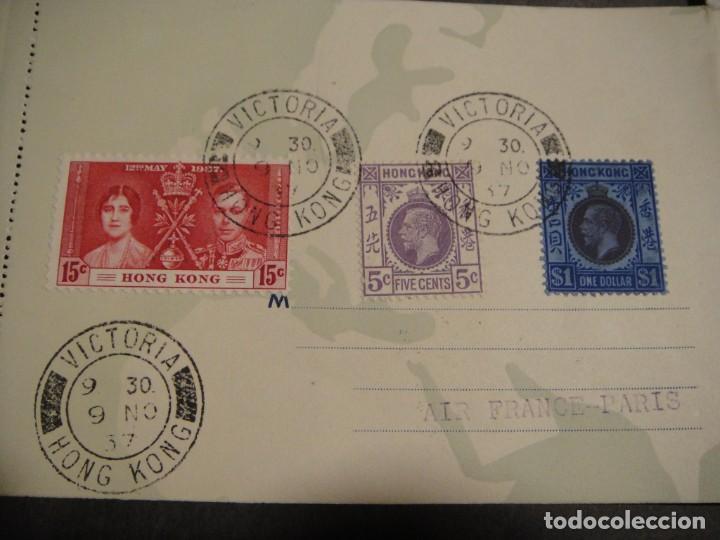 Sellos: hoja con sellos y matasellos correo aereo, u.s.a. , brasil , francia , hong kong - año 1937 - Foto 3 - 282482228