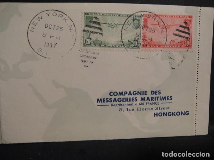 Sellos: hoja con sellos y matasellos correo aereo, u.s.a. , brasil , francia , hong kong - año 1937 - Foto 5 - 282482228