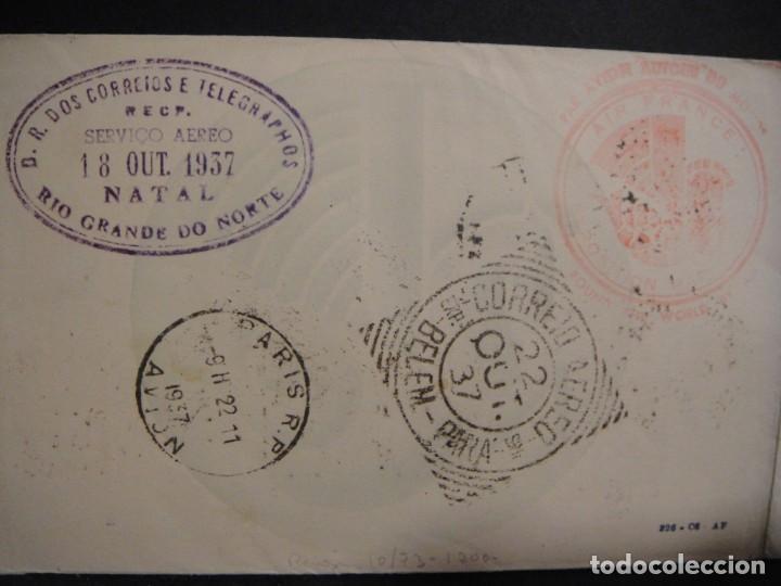 Sellos: hoja con sellos y matasellos correo aereo, u.s.a. , brasil , francia , hong kong - año 1937 - Foto 6 - 282482228