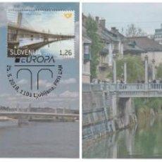 Sellos: SLOVENIA 2018 - EUROPA BRIDGES CARTE MAXIMUM SET. Lote 284588103