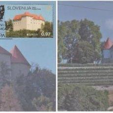 Sellos: SLOVENIA 2017 - EUROPA CASTLES CARTE MAXIMUM SET. Lote 284589978