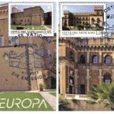 Sellos: VATICAN CITY 2017 - EUROPA 2017 - CASTLES CARTE MAXIMUM SET. Lote 284622263