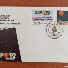 Sellos: ESPAÑA, F.D.C N°2875/76 EXPO 92' (FOTOGRAFÍA REAL). Lote 285053483