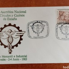 Sellos: ESPAÑA, SOBRE CONMEMORATIVO DE LA VII ASAMBLEA NACIONAL DE CÍRCULOS Y CASINOS 1983.. Lote 285072513