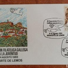 Sellos: ESPAÑA, SOBRE CONMEMORATIVO DE LA III EXPOSICIÓN FILATÉLICA GALLEGA PARA LA JUVENTUD, 1983. Lote 285085278
