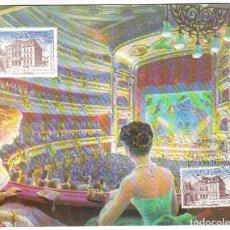 Sellos: DOCUMENTO FILATÉLICO DE LA F.N.M.T. DEL 125 ANIVº GRAN TEATRO LICEO BARCELONA 1972. Lote 287769863