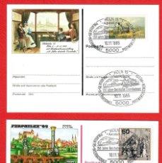 Sellos: LOTE SOBRES DE PRIMER DIA - ALEMANIA - POSKARTE - FERPHILEX´85 - PHILATELIA 85 - GERMANY. Lote 290991903