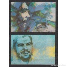 Sellos: CUBA 1990 COMANDANTE CHE - 4 КАРТОЧКИ - CHE GUEVARA. Lote 295951178