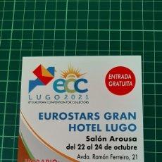 Sellos: TARJETA POSTAL MATASELLO EXFILMA LUGO GALICIA ESPAÑA 2021 CONVENCIÓN. Lote 296835878