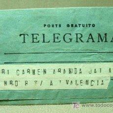Sellos: TELEGRAMA, TELEGRAFO, 1948, GUINEA ESPAÑOLA, BATA A VALENCIA. Lote 19300302