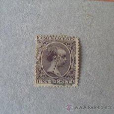 Sellos: ESPAÑA,1889-99,EDIFIL 226T,ALFONSO XIII,TELEGRAFOS,TALADRO PUNTOS,TASA 1. Lote 21602073