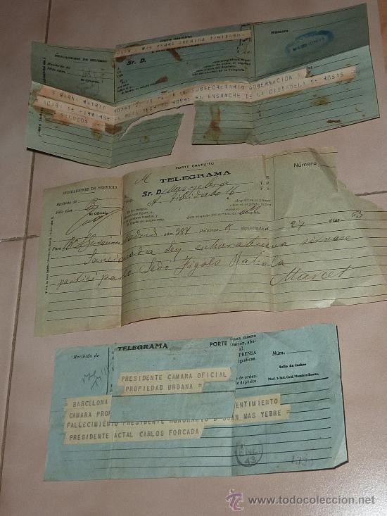 Sellos: lote de 9 antiguos telegramas españoles. De gente importante catalana. TIBIDABO SA. barcelona. - Foto 2 - 24079668