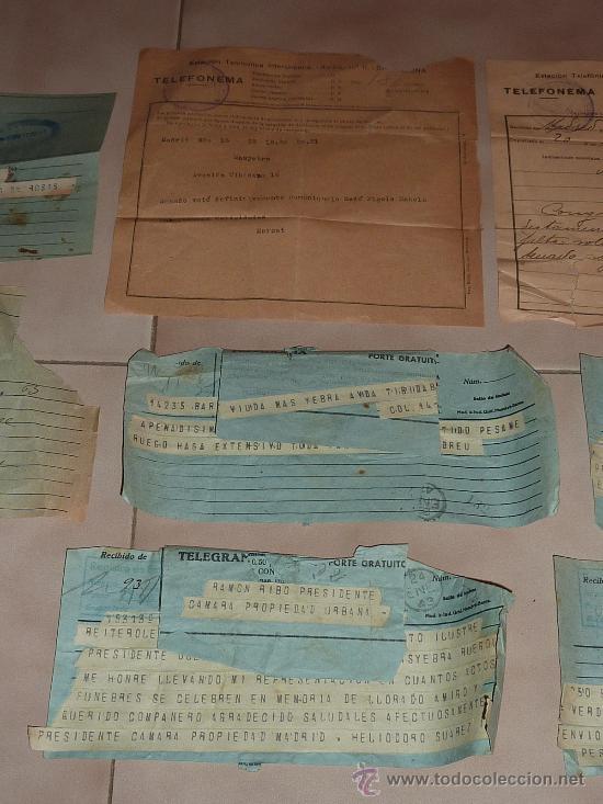 Sellos: lote de 9 antiguos telegramas españoles. De gente importante catalana. TIBIDABO SA. barcelona. - Foto 3 - 24079668