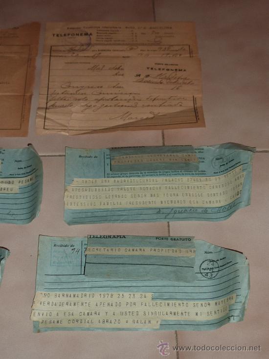 Sellos: lote de 9 antiguos telegramas españoles. De gente importante catalana. TIBIDABO SA. barcelona. - Foto 4 - 24079668