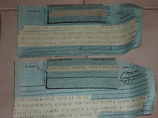 Sellos: lote de 9 antiguos telegramas españoles. De gente importante catalana. TIBIDABO SA. barcelona. - Foto 5 - 24079668