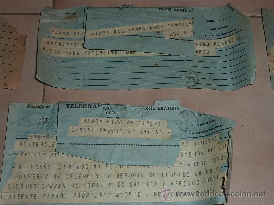Sellos: lote de 9 antiguos telegramas españoles. De gente importante catalana. TIBIDABO SA. barcelona. - Foto 6 - 24079668