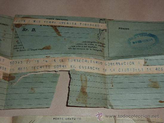 Sellos: lote de 9 antiguos telegramas españoles. De gente importante catalana. TIBIDABO SA. barcelona. - Foto 8 - 24079668