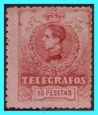 TELÉGRAFOS 1912 ALFONSO XIII, EDIFIL Nº 54 * (Sellos - España - Telégrafos)