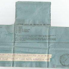 Sellos: ANTIGUO TELEGRAMA ENVIADO DESDE CAMPAMENTO CASTILLEJOS DE SABADELL. Lote 39441700