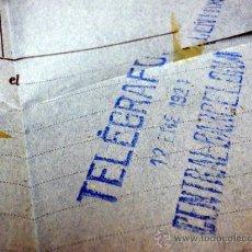 Sellos: TELEGRAMA, CENTRAL DE BARCELONA, MADRID, 1924. Lote 40658742