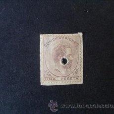 Sellos: ESPAÑA,1872,EDIFIL 127T,AMADEO I,TELEGRAFOS,SELLO SOBRE FRAGMENTO DE PAPEL. Lote 40670343