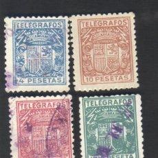 Sellos: 8 SELLOS NUEVOS Y USADOS, SERIE, TELÉGRAFOS, ESCUDO DE ESPAÑA, AÑO 1932 - 1936, EDIFIL 68 A 75. Lote 40984292