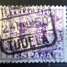 Sellos: SELLO TELEGRAFICO Nº 92, MATASELLADO EN TUDELA . Lote 47868843