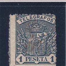 Sellos: EDIFIL 36 TELÉGRAFOS. ESCUDO DE ESPAÑA 1901 (VARIEDAD...GRAN DESPLAZAMIENTO DEL DENTADO) MNH **. Lote 49971759