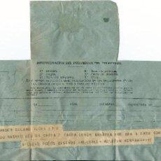 Sellos: TELEGRAMA DEL ESCULTOR AGUSTÍN DE LA HERRÁN MATORRAS A FERNANDO BARREDA SOBRE ATENEO SANTANDER 1951. Lote 63006704