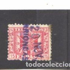 Francobolli: ESPAÑA 1940-42 - EDIFIL NRO. 78 TELEGRAFOS - USADO - MANCHA. Lote 77648462