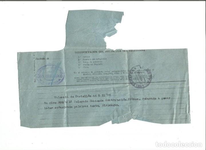 TELEGRAMA VALENCIA. 5 DE DICIEMBRE DE 1963. (Sellos - España - Telégrafos)