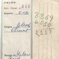Sellos: GIRO POSTAL . ALCALÁ DE CHISVERT. 30 DE ABRIL DE 1976.. Lote 88884600
