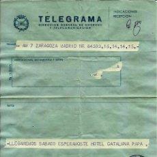 Sellos: ESPAÑA TELEGRAMA - ACADEMIA MILITAR DE ZARAGOZA - 1975. Lote 96177767