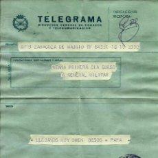 Sellos: ESPAÑA TELEGRAMA - ACADEMIA MILITAR DE ZARAGOZA - 1975. Lote 96177791