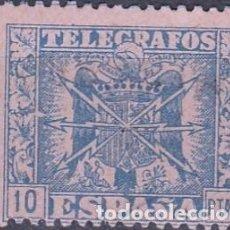 Sellos: ESPAÑA 1940-42. TELEGRAFOS ESCUDO DE ESPAÑA. Nº.92 ..10 PTAS ..NUEVO GOMA S/F .D 13 1/2 . Lote 97037415