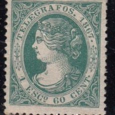 Sellos: TELÉGRAFOS , 1867 EDIFIL Nº 19 , / * / . Lote 102375355