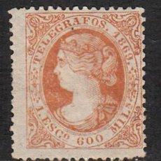 Sellos: TELEGRAFOS 1869 ISABEL II NUM. 28 NUEVO CON SEÑAL DE FIJASELLOS -- MARQUILLA--. Lote 102489539