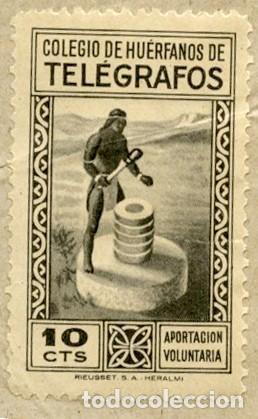 1953. DOS RECIBOS, UNO DE TELEGRAMA Y EL OTRO DE GIRO TELEGRÁFICO, CON SELLOS HUÉRFANOS DE 10 CTS (Sellos - España - Telégrafos)