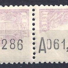 Sellos: EDIFIL 68. TELÉGRAFOS. 1932-1933 (VARIEDAD...CALCADO PARCIAL. NO CATALOGADO). LUJO. MNH **. Lote 109167531